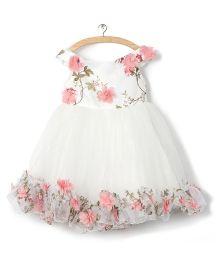 Whitehenz Clothing RossetteTutu Dress - Baby Pink