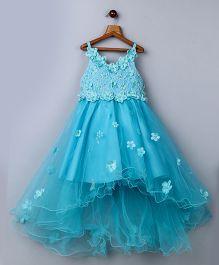 Whitehenz ClothingTutu Floral Dress - Ferozi Blue