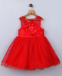 Whitehenz Clothing Adorable Crochet Net Dress - Red