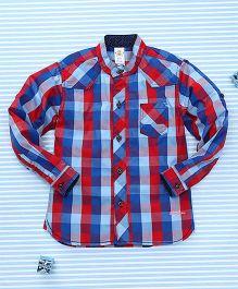 Bee Born Checkered Shirt - Blue