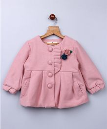 Whitehenz Clothing Plush Coat With Back Bow - Pink
