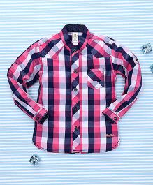 Bee Born Checkered Shirt - Pink