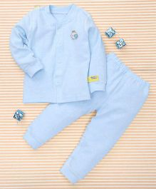 Gigilily Smart Tee & Pant Set - Blue