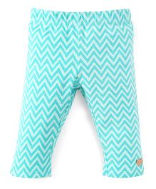 Pumpkin Patch Printed Leggings - Misty Jade