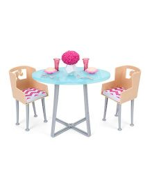 Barbie Dinner Date Furniture - Blue And Cream