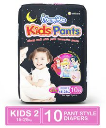 MamyPoko Kids Pants For Girls - 10 Pieces