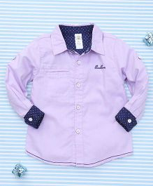 Bee Born Attractive Full Sleeves Shirt - Purple