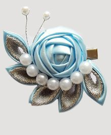 Reyas Accessories Caterpillar Hair Clip - Silver Blue