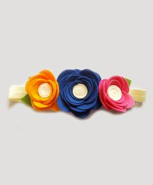 Reyas Accessories Rose Trio Crown Headband - Multi Color
