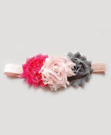 Reyas Accessories Vintage Style Headband - Pink Grey