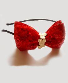 Reyas Accessories Sequin Headband - Red White