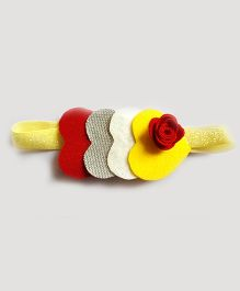 Reyas Accessories Glittery Heart Headband - Multicolor