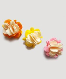Reyas Accessories Set Of Three Flower Hair Clip - Multicolor