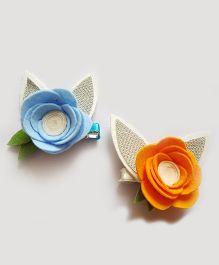 Reyas Accessories Set Of 2 Bunny Hair Clip - Multicolor