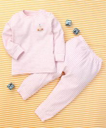 Gigilily Full Sleeves Tee & Pant Set - Pink