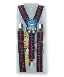Kid O Nation Suspenders Teddy Patch - Blue Red