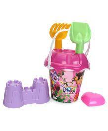 Dora Beach Bucket With Accessories - Pink Purple
