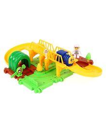 Imagician Playthings Kratos Build & Grow Rail Green Yellow - 25 Pieces