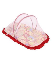 Mee Mee Matress With Moquito Net And Pillow Set - Red