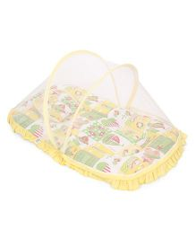 Mee Mee Matress With Moquito Net And Pillow Set - Yellow