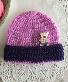 Buttercup From KnittingNani Cap With Flap - Lavender