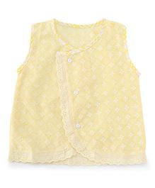 Chocopie Sleeveless Jhabla - Yellow