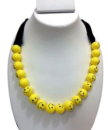 SYN Kidz Designer Mom Daughter Combo Smiley Necklace - Yellow