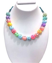 SYN Kidz Designer Mom Daughter Combo Smiley Necklace - Multicolor