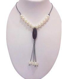 SYN Kidz Designer Stylish Cord Neckpiece - Grey & White