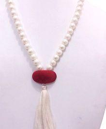 SYN Kidz Designer Stylish Tassel Neckpiece - Red & White