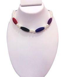 SYN Kidz Designer Long Velvet Bead Neckpiece - Multicolor