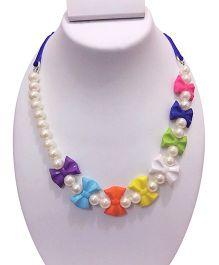 SYN Kidz Designer Stylish Bow Neckpiece - Multicolor