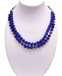 SYN Kidz Designer Two Layered Small Cube Neckpiece - Royal Blue