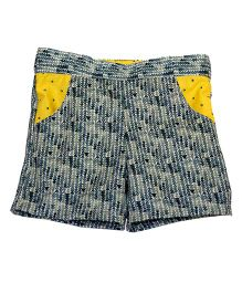 Kadambaby Printed Shorts - Blue