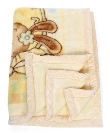 Mee Mee Rabbit Print Blanket - Beige