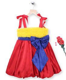 Simply Cute Ruffle Dress - Yellow & Red