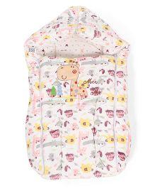 Mee Mee Carry Nest Cum Sleeping Bag Animal Print - Pink