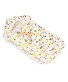 Mee Mee Carry Nest Cum Sleeping Bag Animal Print - Cream