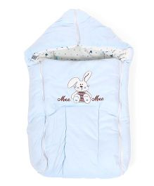 Mee Mee Carry Nest Cum Sleeping Bag Rabbit Print - Blue