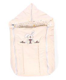 Mee Mee Carry Nest Cum Sleeping Bag Rabbit Print - Cream