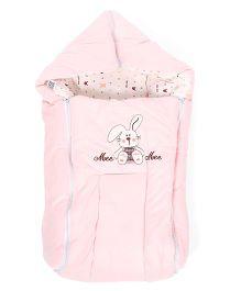 Mee Mee Carry Nest Cum Sleeping Bag Rabbit Print - Pink