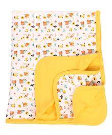 Mee Mee Baby Wrapper Vehicle Print - Yellow
