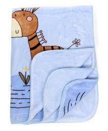 Mee Mee Blanket Giraffe Print - Blue