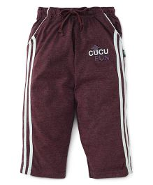 Cucu Fun Full Length Track Pants - Aubergine