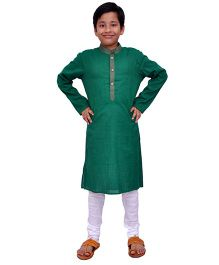 Kilkari Full Sleeves Kurta Pajama Set - Green