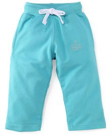 Cucu Fun Full Length Fleece Track Pants - Aqua Green