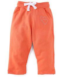 Cucu Fun Full Length Fleece Track Pants - Orange