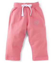 Cucu Fun Full Length Track Pants - Peach
