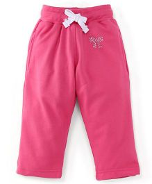 Cucu Fun Full Length Fleece Track Pants - Pink