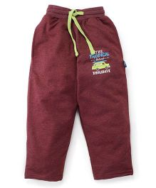 Cucu Fun Full Length Track Pants - Maroon